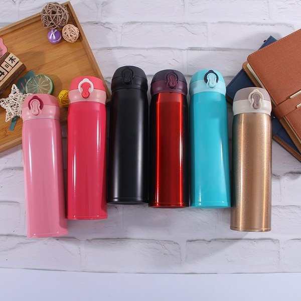 New 500ml double wall tainle teel vacuum fla k bu nie type thermo cup coffee cup mug water bottle hipping