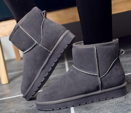 Hot Sale-2018 HOT SALE New women's Snow Boots cowhide suede leather winter warm Boots and ankle Boots brand Ivg 12 color outdoor Boot
