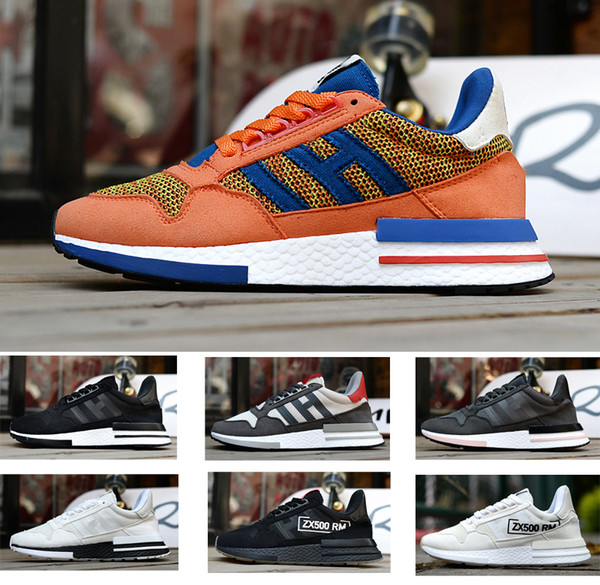 2019 2019 Designers Dragon Ball ZX 500 RM Goku Shoe Classic Limited Edition Super Light Men Women Running Shoes ZX500 Designer Luxury Sneaker From