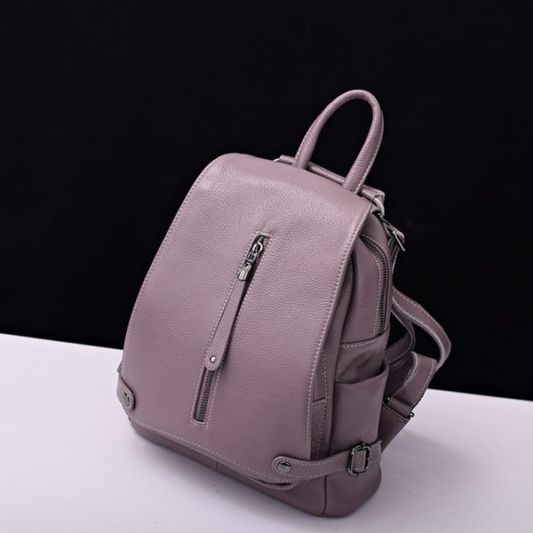 Fast Send 100% Genuine Leather Women's Backpack First Layer Cowhide Girls Ladies' Shopping Travel Backpack School Designer Bag #92479