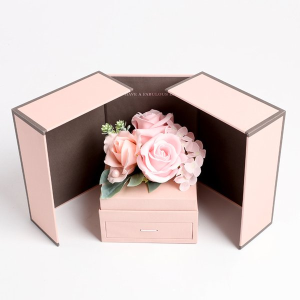 new cute baby soap flower jewelry gift box Mother's Day Creative 520 gift Home Decoration Holiday Gift Rose Carnation Hydrangea Decor