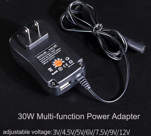 Nova Multi-função Adaptador de Carregamento de Energia 30 W Adaptador Regulador de Tensão DC Carregador de Energia Ajustável Frete Grátis MAANUAL30W