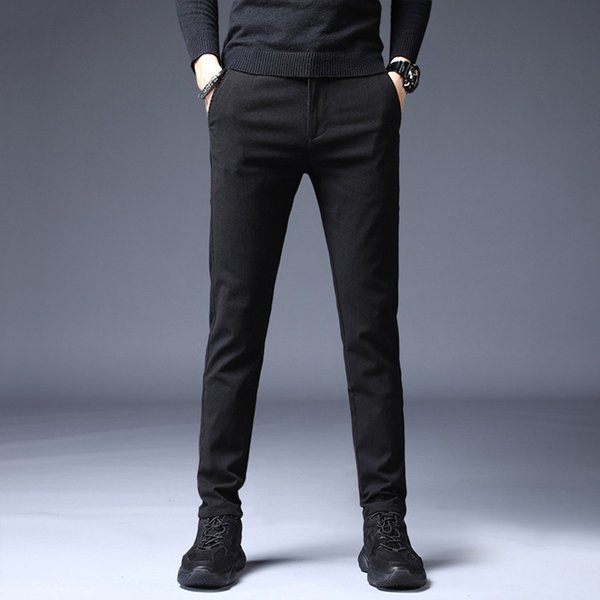 Pants Men Casual Solid Straight Slim Trousers Drawstring Long Pants streetwear pantalones hombre joggers sweatpants hip hop