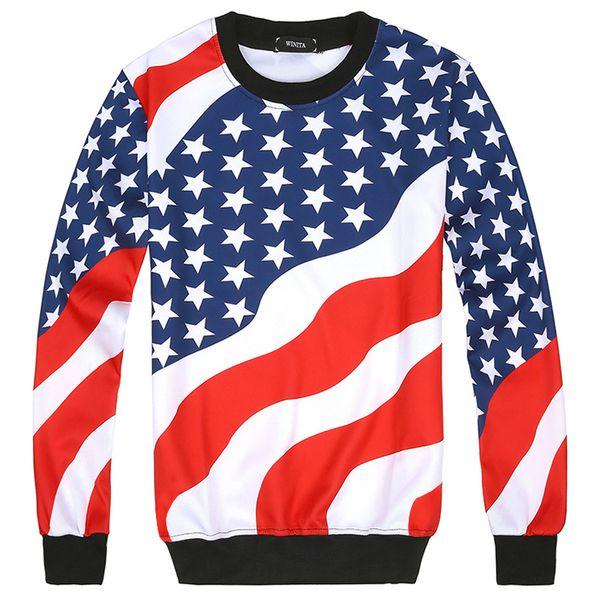 2017 amerikanische flagge 3d gedruckt männer hoodies mode herren und frauen hoodie herbst winter hip hop sportwear hoodies oder jogger