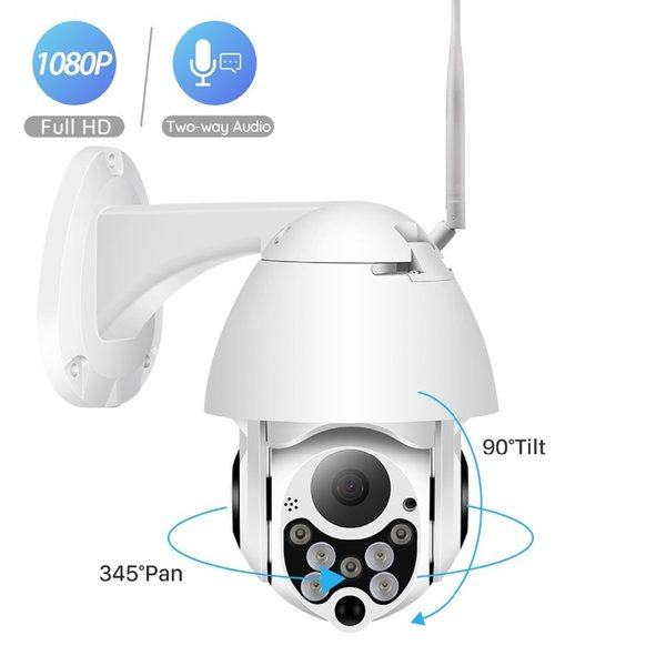 BESDER 1080P PTZ IP Camera Outdoor Speed Dome Wifi Security Camera Pan Tilt 4X Digital Zoom IR Night Vision 720P Camera ONVIF