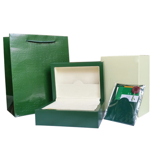 Free Shipping 116610 116660 Luxury Green Brand Watch Original Boxes Papers Card Boxes Handbag 0.8KG for Rolex Men Men's Watch Watches Box