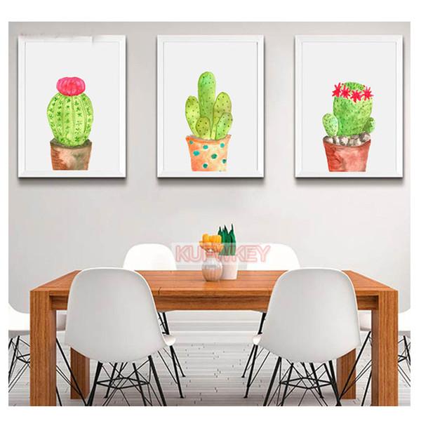 5D diy Diamond Painting Full square Cactus plant,triptych Cross Stitch,round Diamond Embroidery,Mosaic diamond picture puzzles
