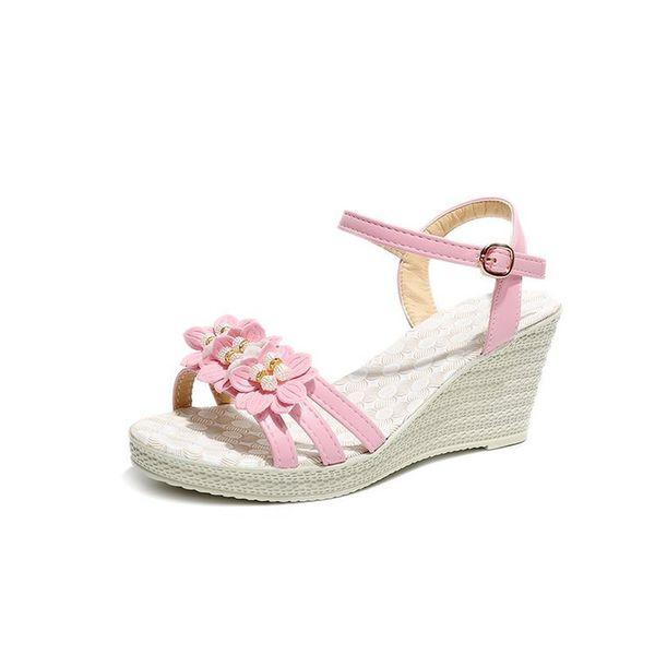 Designer Dress Shoes 2019 new fashion women's pumps Summer Edition girls' high heels color pink blue girl party shoe woman high sandals