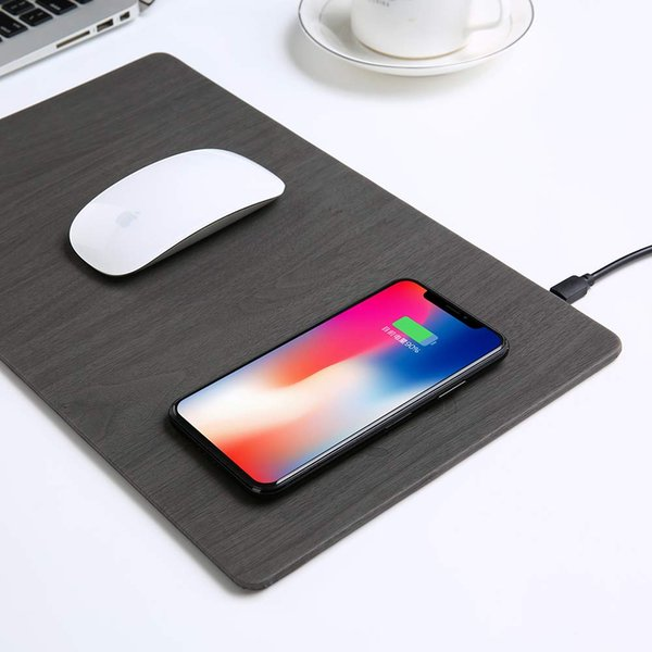 Estera de carga inalámbrica Qi del cojín de ratón inalámbrico rápido del cargador 10w con indicador de luz LED 10w Carga para Android y 7.5w Compatible para iPhone