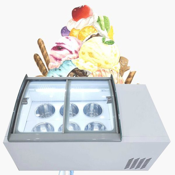 best selling 190W 6 barrels ice porridge cabinet commercial ice cream display cabinet for cold drinks shop store supermarket ice cream display cabinet