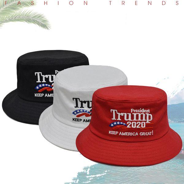 Trump 2020 Cimri Ağız Şapka Moda Açık Spor Güneş Şapka Yumuşak Nefes Unisex Seyahat Plaj Kap Amerika Büyük Balıkçı Kap DBC VT0354 Tutmak