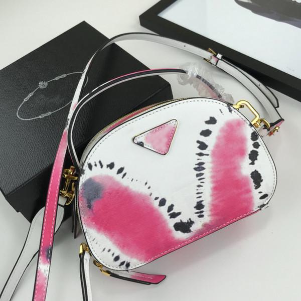 Designer Bags Famous Brand Full Leather Half Moon Belt Color Matching Metal Hook Camera Bag Genuine Leather