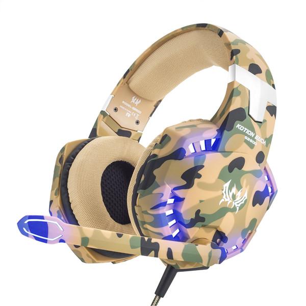 Ortable Ses Video Kulaklık Kulaklık Led Mikrofon Ile 3.5mm Kulaklık Oyun Kulaklığı Mic Gamer PC PS4 Oyunu Stereo Oyun ...