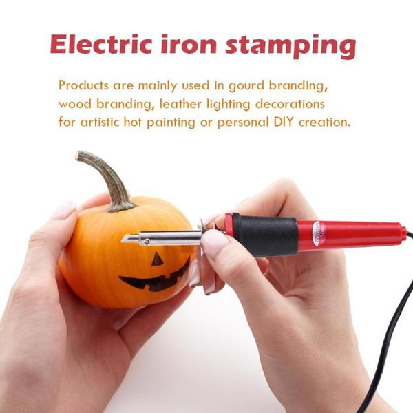 265 * 145 * 50 mm de la soldadura eléctrica del hierro del lápiz del calor de la calabaza Branding cuero Lámpara artículos de bricolaje personal Creación de herramientas de reparación de herramientas