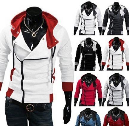 Gros-2016 Creed élégant Hommes Assassins 3 Desmond Miles Costume Hoodie cosplay manteau veste
