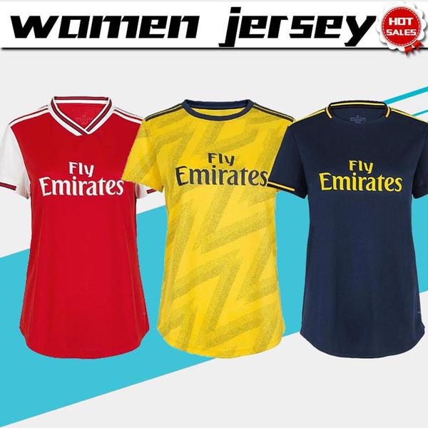 Mulheres Jersey 2020 Artilheiro Início de Futebol 19/20 Feminino camisas de futebol afastado Fardas menina do futebol terceiro azul profundo Para venda