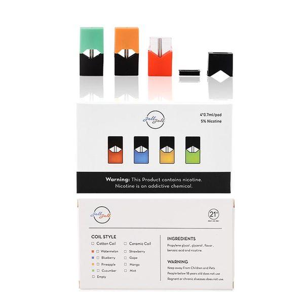 JOLL Stater Kits 280 mah Compatível Ju ul Vape Pen Bateria Pode Caber Ju ul Pods Com Ejuice E Cigarro Livre DHL