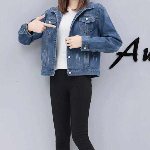 Großhandel Hohe Qualität Frauen Jeansjacke Herbst Heißer Verkauf Mode Grundlegende Mantel Denimjacken Frauen Mantel Lose Fit Lässig Von Bmw2, $29.15