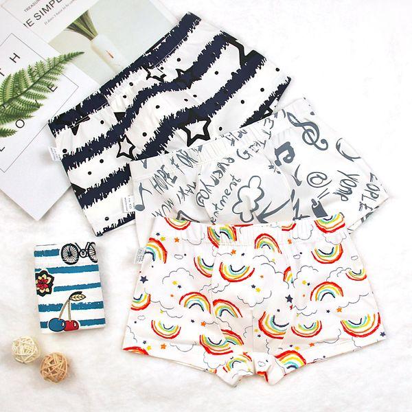Kids Boys Underwear Cartoon Children's Shorts Panties for Baby Boy Stripes Teenager Underpants 2-14T cotton panties