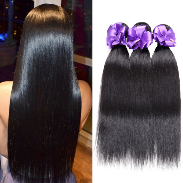 Straight Brazilian Malaysia Peruvian Indian Hair Weave 2 Bundles Deal Human Hair Extension Vendors 8 To 28 Inch Remy 100% Human Hair Bundles