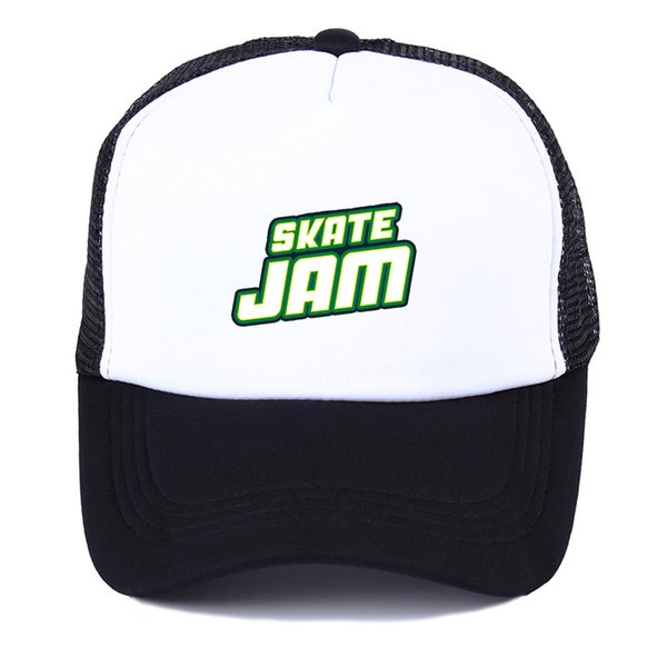 Popular game skatejam Baseball cap Summer Men Women outdoor Mesh trucker cap snapback hats Breathable mesh hat