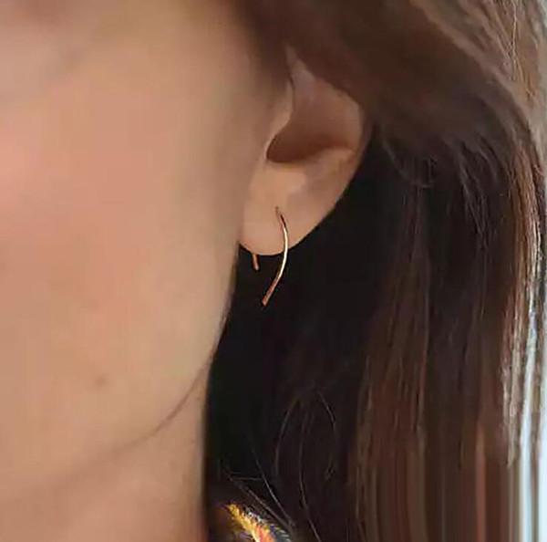 Chegada nova Design Simples Metade Círculo brincos para As Mulheres Verão estilo jóias acessórios de Prata de Ouro