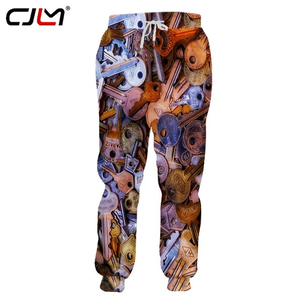 CJLM Fashion Man Sweatpants 3D Key Congested Funny Streetwear Mens Pants Whole body printing Oversized Trousers