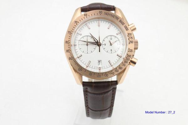 man speed Watch Co-Axial Planet Ocean MASTER VK Quartz Chronograph 311.63.44.51.01.001 Relojes de pulsera de acero esfera blanca Relojes para hombres