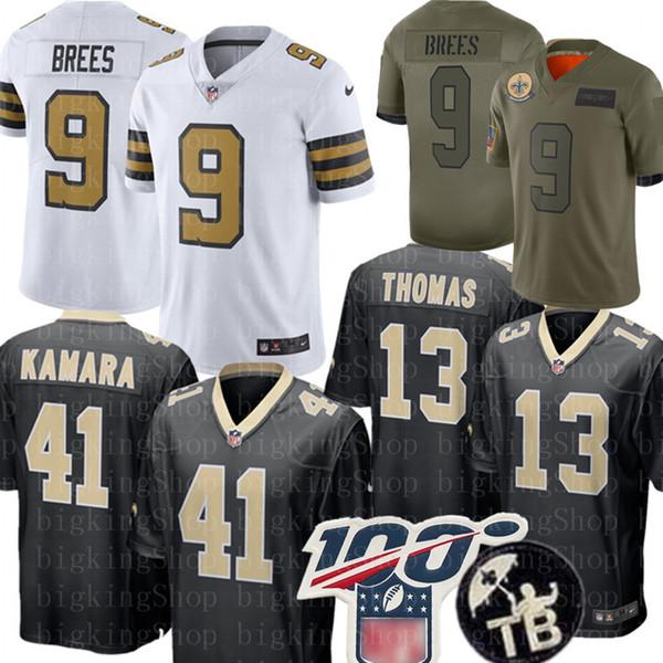 9 Drew Brees 41 Alvin Kamara New Orleans Jersey Saintss 13 Michael Thomas 23 Marshon Lattimore 7 Taysom Hill Bryant Football Jerseys