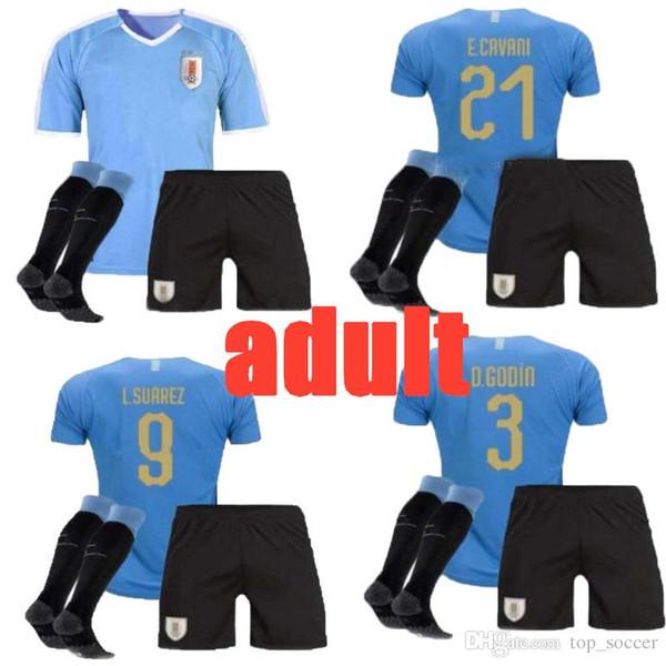 new 2019 2020 adult Uruguay Soccer Jersey 19/20 Home 9 L.suarez 21 E.cavani Soccer Shirt #3 D.GODIN Away National Team Football Uniforms