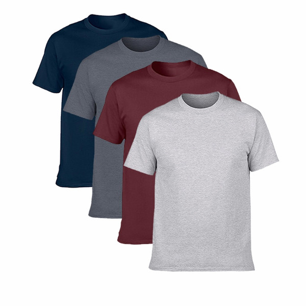 Buy Two Get Two Hot Sale Classic Men T Shirt Short Sleeve O Neck Mens T -Shirt Cotton Tees Tops Mens Brand Tshirt Plus Size S -3xl
