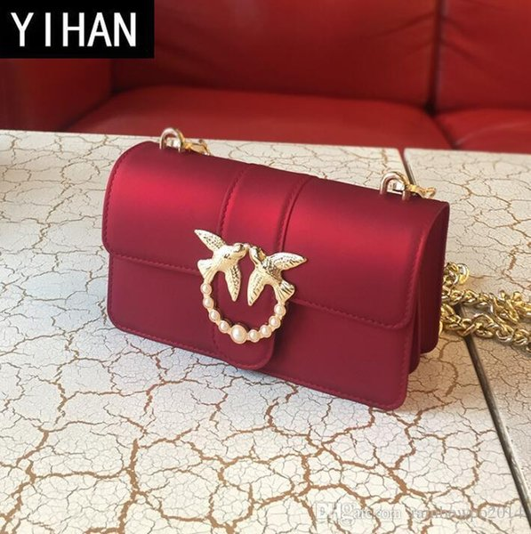 Factory independent brand women bag summer new matte jelly chain bag small fragrant wind PVC fashionable swallow bag lovely color handbag