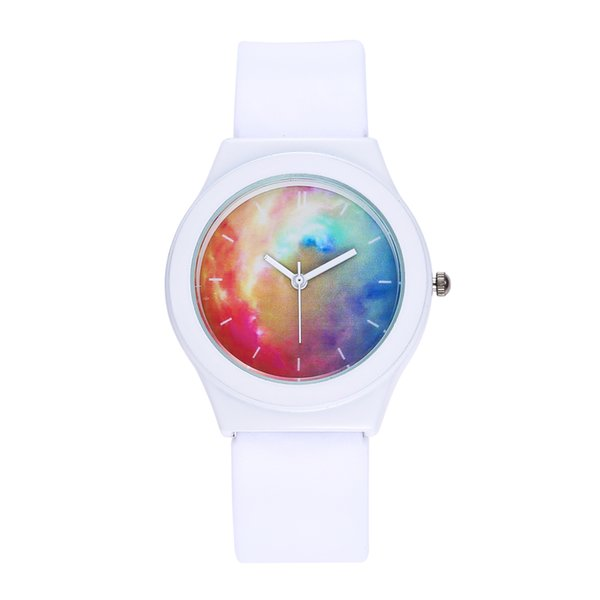 Hot Selling Watches Women Fashion Starry Sky Leather Band Analog Quartz Round Wrist Watch Waterproof Clock Montre Femme