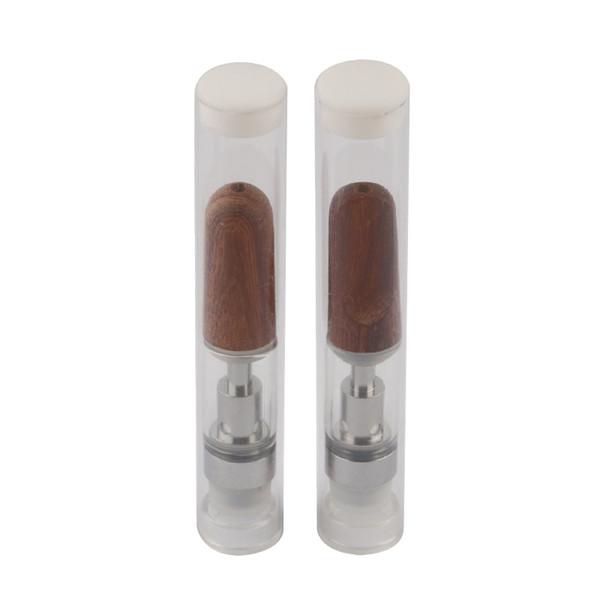 2019 Wooden Drip Tip Cceramic Coil Cartridge 0.5/1.0ML Thick Oil Cartridge 510 Cre-C Ceramic Coil Atomizer for CE3 Battery