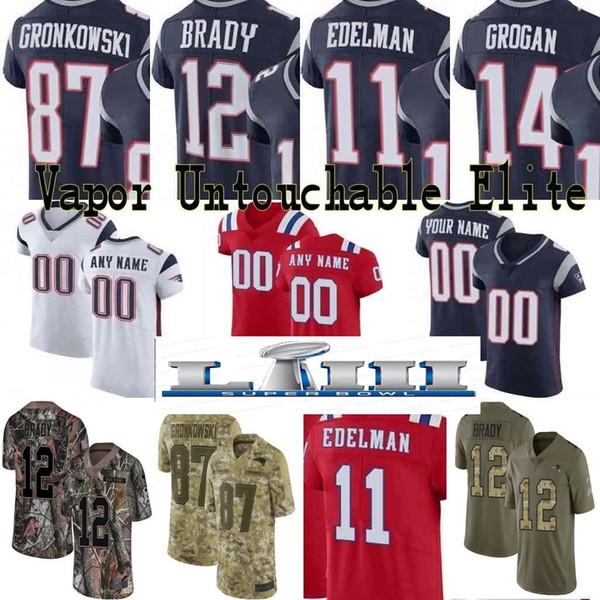 buy popular 35543 3f161 2019 Super Bowl Custom Men Youth Women New Josh Gordon Tom Brady Rob  Gronkowski Julian Edelman Tedy Bruschi Patriots Camo Elite Limited Jersey  01 From ...