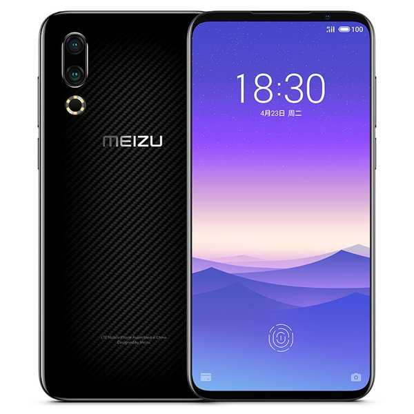 Оригинал Meizu 16S 4G LTE сотовый телефон 8 ГБ ОЗУ 128 ГБ 256 ГБ ROM Snapdragon 855 Octa Core Android 6.2