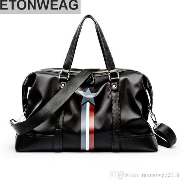 Фабрика независимый бренд мужчины сумка водонепроницаемая ткань Оксфорд мужчины сумка звезда открытый фитнес-упражнения мешок большой емкости Кожа Мужские Travellli