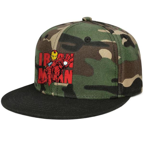 63add20f6 Designer Men Women Camo Trucker Caps MARVEL Iron Man Graphic Flat Bill Hip  Hop Snapbacks Hat Vintage Sun Hat Trucker Caps Flat Bill Hats From ...