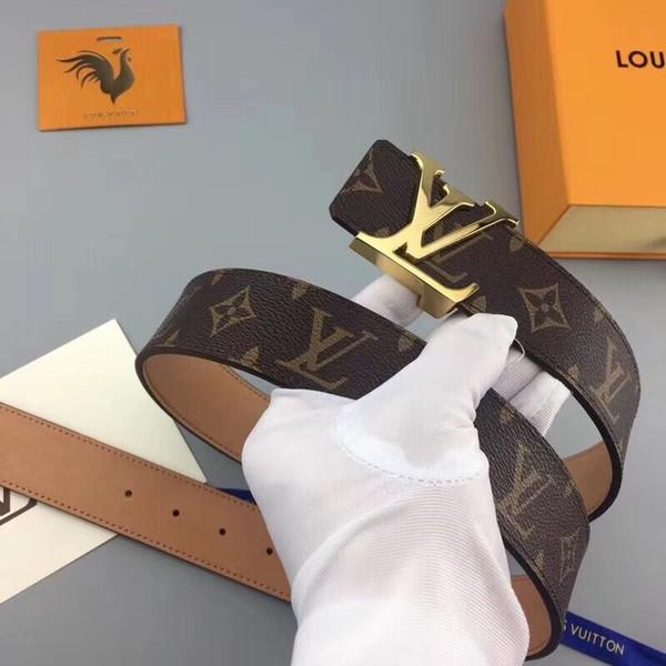 Cinturón de cuero genuino con hebilla grande grande con caja de diseño cinturones hombres mujeres alta calidad nuevos cinturones para hombre cinturón de lujo envío gratis