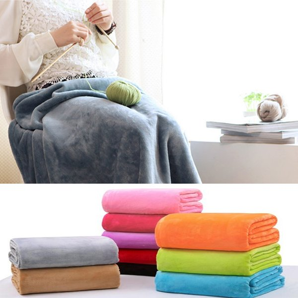2019 Hot Sale Spring/Autumn Coral Fleece Blankets For Beds Sofa Throw Blanket 50*70cm
