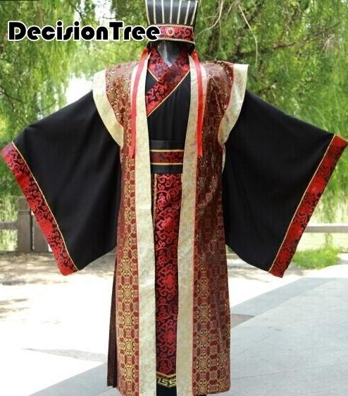 2019 kungfu uniforms chinese traditional men clothing tang costumes dragon ancient emperor suits Men Stage Performance