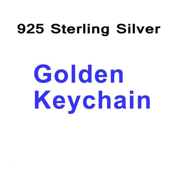 Chaveiro de Prata Dourado