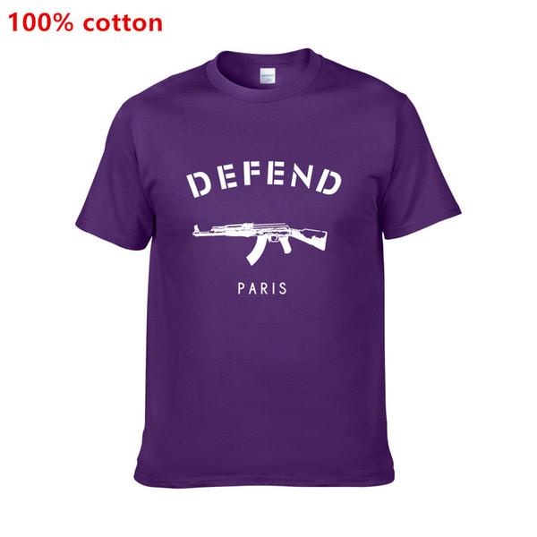 Frete Grátis Verão quente estilo T shirt com mangas curtas marca DEFENDA Paris dos homens de manga curta T-shirt T5