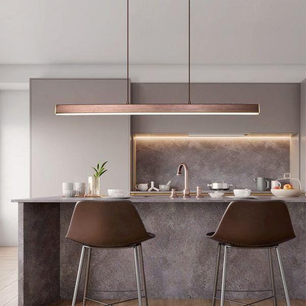 Modern LED Dining Room Chandelier Lighting Nordic Restaurant Long Hanging  Lights Office Fixtures Bar Illumination Study Lamps Home Light Fixtures ...