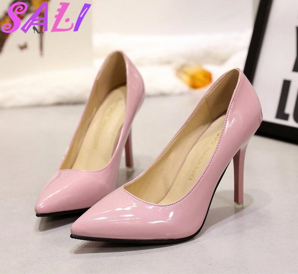 Designer Dress Shoes 2019 New Spring Nude pink women High-heeled Pointed stiletto female red Elegant wedding