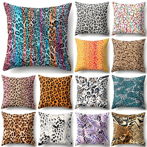 45*45cm Animal Leopard Print Pillow Case Sofa Waist Throw Cushion Cover on leopard print living room furniture, leopard chair, beauty furniture home, paisley furniture home, leopard reclining sofa, leopard print furniture and accessories, zebra furniture home, leopard print retro furniture, animal print for the home, beach furniture home,