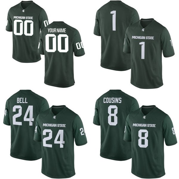 size 40 7b40a 6a32c 2019 NCAA Michigan State Spartans Mens Womens Kids 8 Kirk Cousins 24 Bell  Jersey 100% Stitched Custom Any Name Any No. College Football Jerseys From  ...