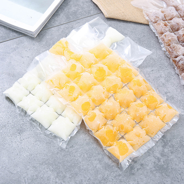 Factory Price!!! Creative Disposable Ice Cube Bags 10Pcs Frozen Juice Clear Sealed Pack Ices Making Mold Summer DIY Drinking Tray Tool