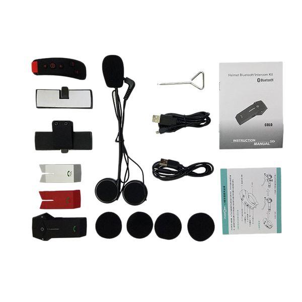 ABKT-FreedConn Colo-Rc Nfc Motorcycle Helmet Wireless Headset Bluetooth Helmet Intercom Headset 1000 Meters With Remote Control