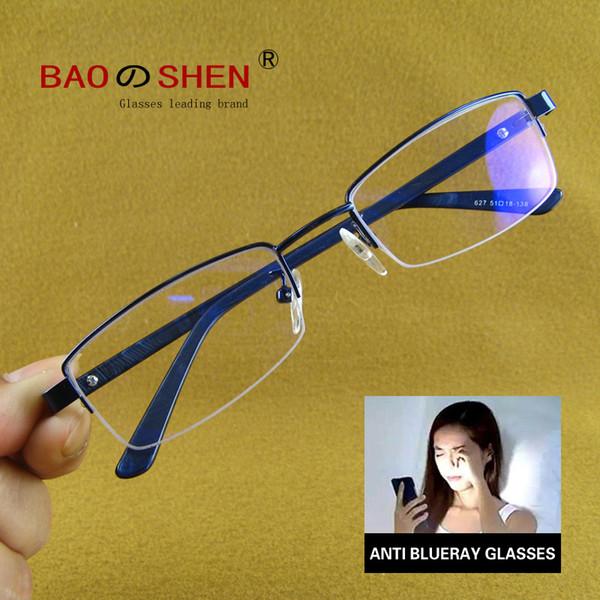 Compre Azul Bloqueo De La Luz Gafas Para Computadora Tableta Lectura Juegos Tv Teléfonos Gafas Anti Frase Ocular Filtro Uv El Deslumbramiento